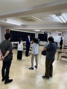 「東京サイト」取材の様子1